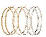 Charlotte Russe Embellished Hoop Earrings - 3 Pack