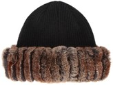 Hockley Chan Fur-trimmed Wool Beanie