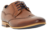 Dune Rookie Leather Wingtip Lace-up Derby Shoes, Tan