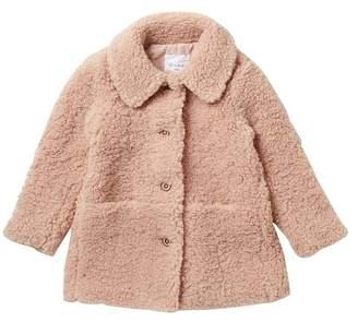 Elodie K Teddy Faux Shearling Coat (Toddler & Little Girls)
