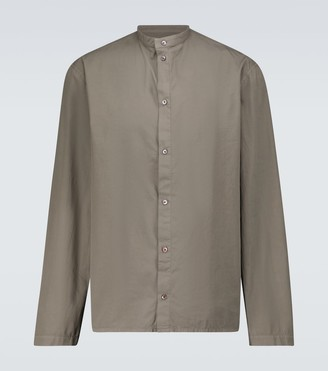 Lemaire Long-sleeved band collar shirt