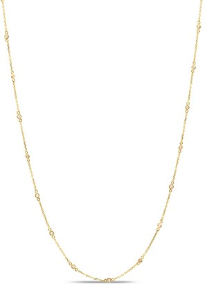 Tresor Collection Diamond Fin Long Necklace In 18K Yellow Gold