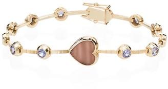 Retrouvai 14K yellow gold opal and sapphire bracelet