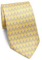 Salvatore Ferragamo Swan Printed Silk Tie