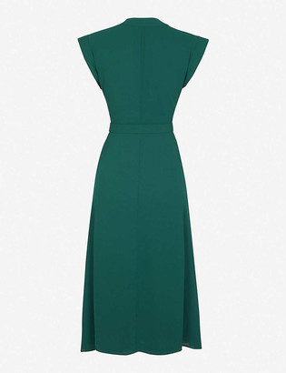 Claudie Pierlot Tie-belt crepe midi dress