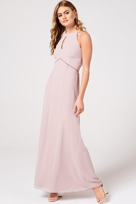 Little Mistress Tabitha Mink Keyhole Maxi Dress