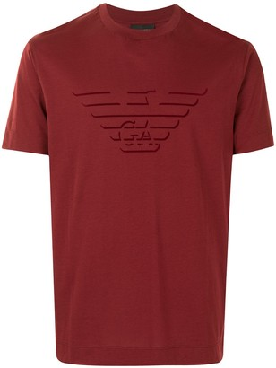 Emporio Armani eagle-print cotton T-shirt
