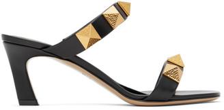 Valentino Black Garavani Roman Stud 65 Heeled Sandals