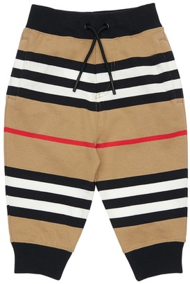 Burberry Striped Cotton Sweatpants
