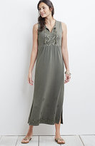 J. Jill Embroidered Cotton Slub Maxi Dress