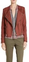 Veronica Beard Women's Stevie Fringe Trim Moto Jacket