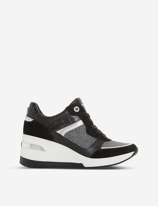 Dune Easton wedge trainers