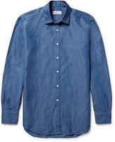 Canali - Slim-fit Slub Cotton And Linen-blend Shirt