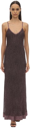 M Missoni Long Lurex Viscose Knit Dress