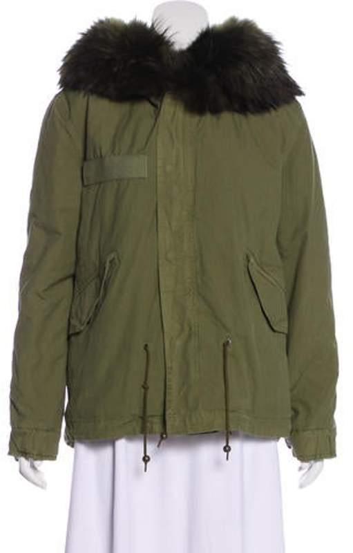 b13eff74538 Fur-Trimmed Hooded Parka Olive Fur-Trimmed Hooded Parka