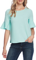 Vince Camuto Ruffle Cuff Textured Knit Top