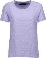 Karl Lagerfeld Textured cotton and modal-blend T-shirt