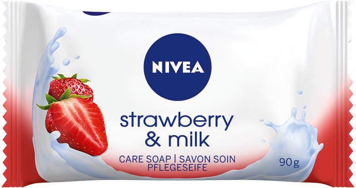 Nivea Strawberry and Milk Soap by 90g Soap)