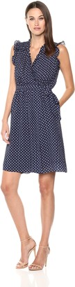 Rebecca Taylor Women's Sleeveless Ikat dot Dress
