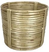"Threshold 8.6"" Round Rattan Tabletop Planter - Wood"
