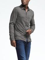 Banana Republic Cotton Wool Silk-Blend Shirt