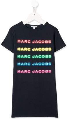 Little Marc Jacobs logo print T-shirt dress