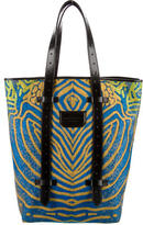 Proenza Schouler Leather Trimmed Shopping Tote