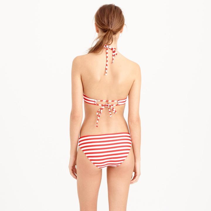 J.Crew Cropped bikini top in classic stripe