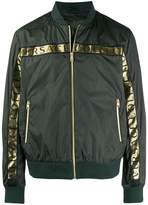 Versace Collection logo tape bomber jacket