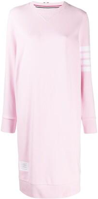 Thom Browne 4-Bar stripe jumper dress