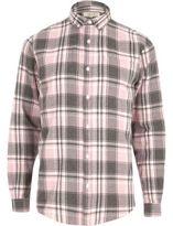 River Island MensPink check shirt