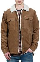 Volcom Men's Keaton Jacket With Faux Shearling Trim