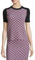 Kate Spade Short-Sleeve Geometric-Print Top
