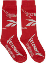 Vetements Red Reebok Edition Metal Socks