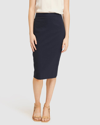 Oxford Women's Pencil skirts - Peggy Wool Stretch Suit Skirt - Size One Size, 6 at The Iconic