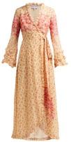 Luisa Beccaria Floral-print Georgette Wrap Dress - Womens - Yellow Print