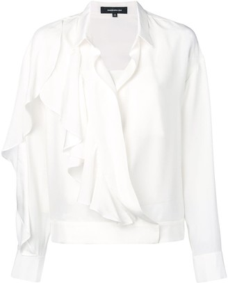 Barbara Bui Ruffle Long-Sleeve Blouse