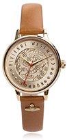 Vivienne Westwood Women's VV114GDTN Orb London Leather Analog Display Swiss Quartz Brown Watch