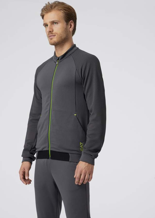 2fea45e542 Ea7 Sweatshirt In Ventus7 Tech Fabric With Air-Exchange System And  Reflective Details