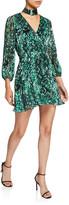 Alice + Olivia Rita Mock-Neck Blouson-Sleeve Dress