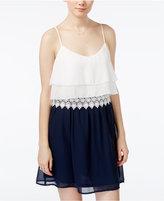 Teeze Me Juniors' Chiffon Popover A-Line Dress