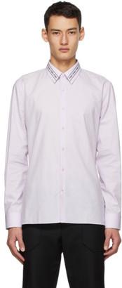 Fendi Pink Embroidered Collar Shirt