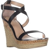 Charles David Charles Aden Wedge Wespadrilles Sandals, Black, 9.5 US