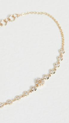 The Last Line Mini Diamond Flower Bezel Bracelet