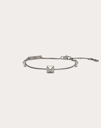 Valentino Garavani Uomo Rockstud Metal Bracelet Man Lead Brass 100% OneSize