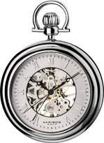 Akribos XXIV Men's AKR453SS Mechanical Skeleton -Tone Pocket Watch