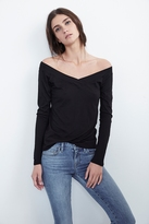 Devon Gauzy Whisper Off The Shoulder Tee