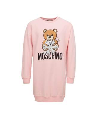 Moschino Snowflake Toy Bear Sweater Dress Colour: ROSE, Size: Age 4