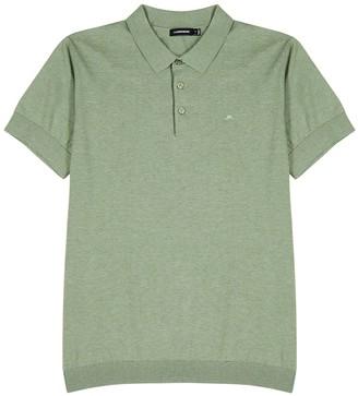 J. Lindeberg Ridge sage cotton-blend polo shirt