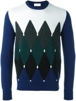 Ballantyne diamond intarsia jumper